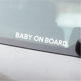 Baby on Board Car Decal - Text Only