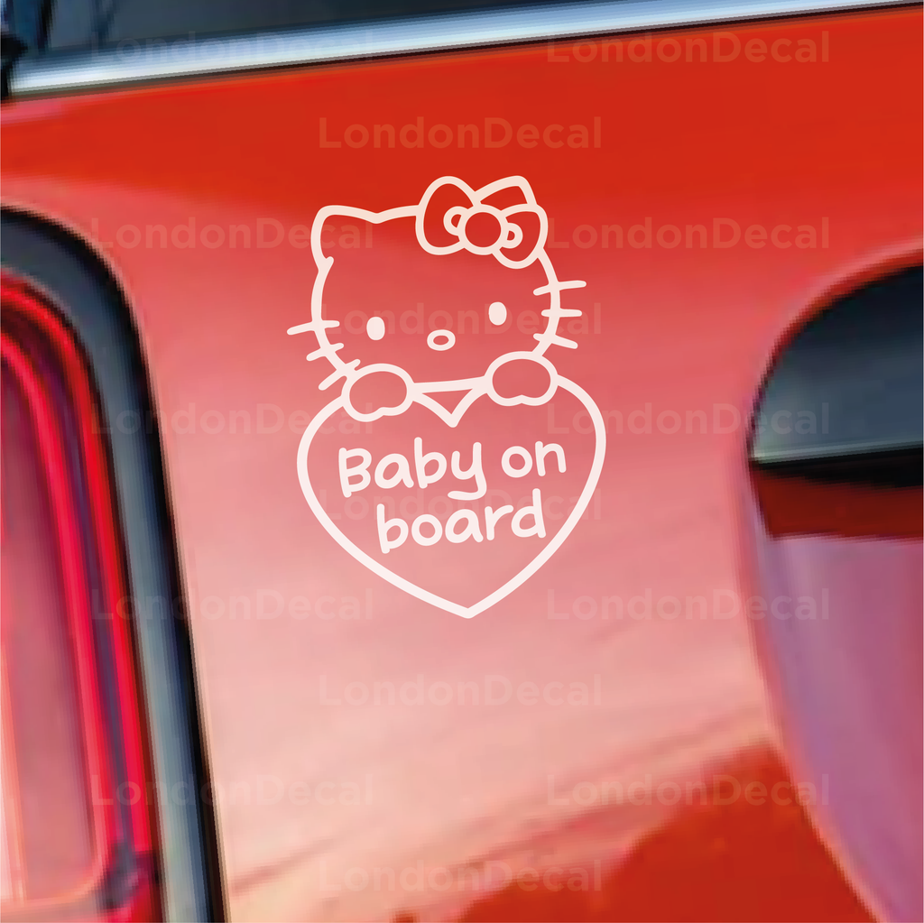 Baby On Board Car Decal - Little Kitty