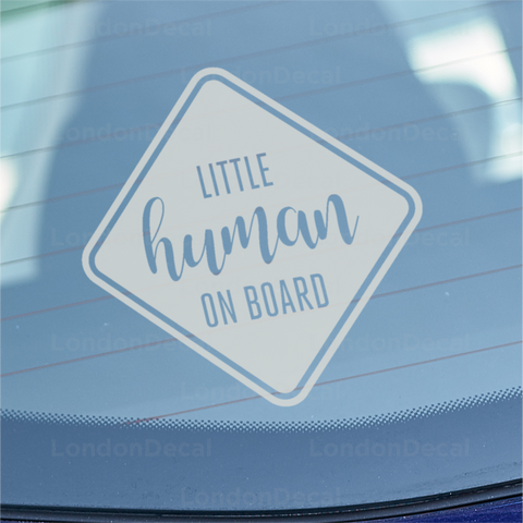Little Human on Board Car Decal
