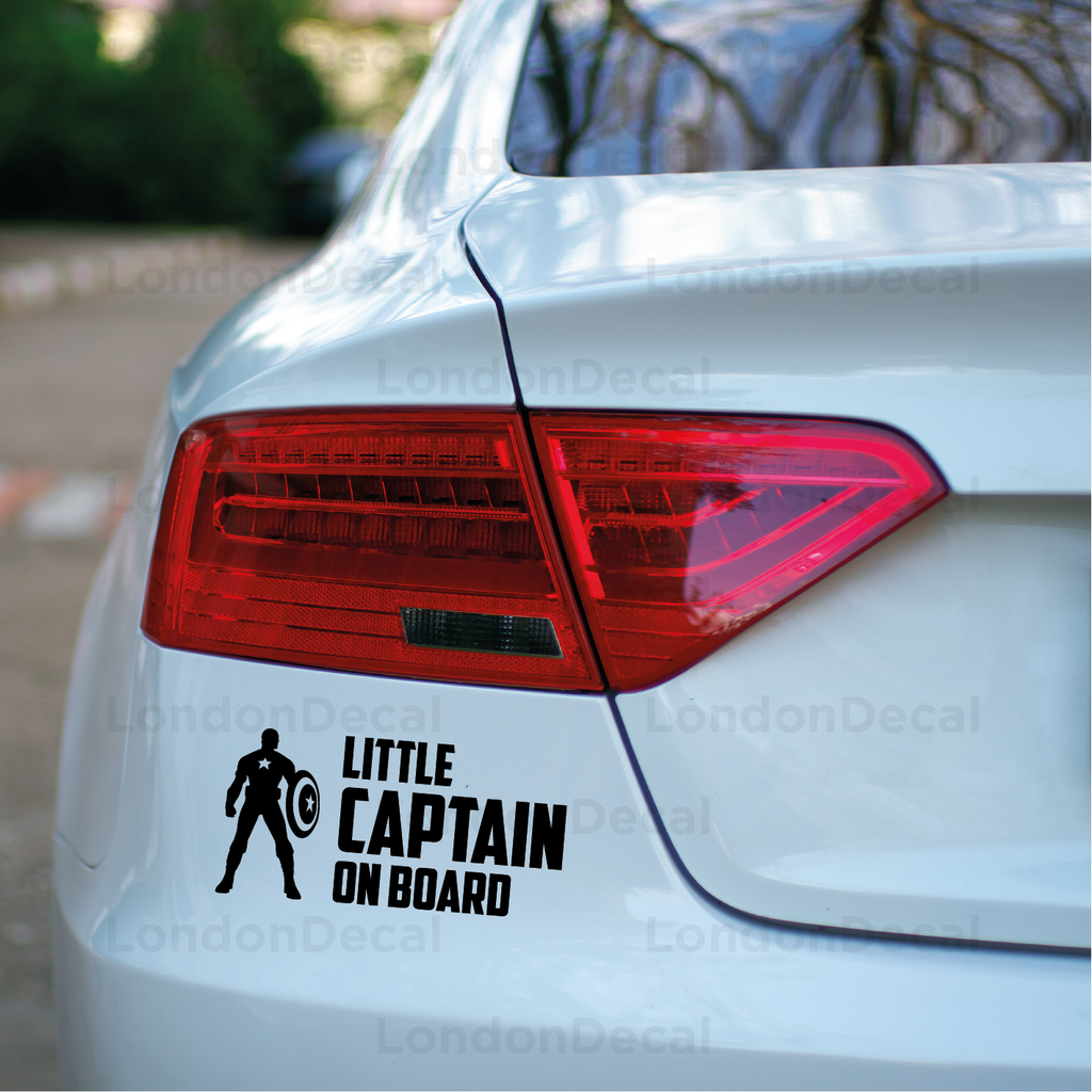 Little Captain On Board Car Decal