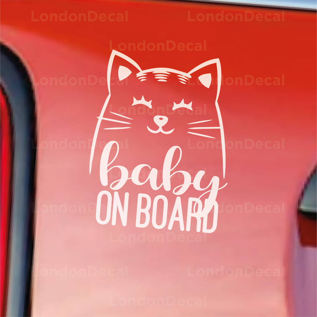 Baby On Board Character 1 Car Decal