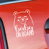 Baby On Board Character 2 Car Decal