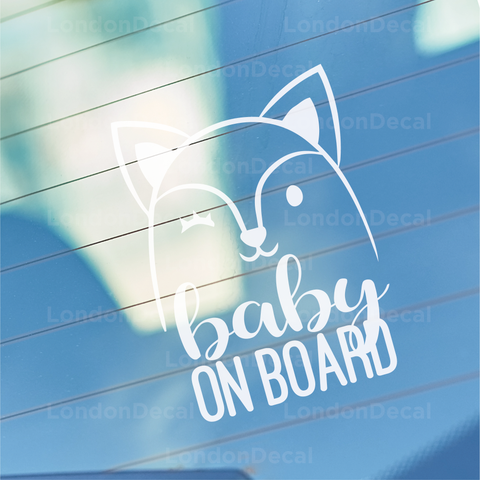 Baby On Board Character 3 Car Decal