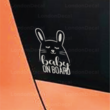 Baby On Board Character 4 Car Decal