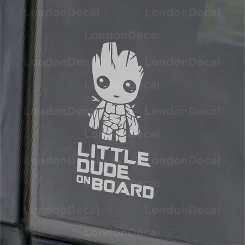 Little Dude On Board - Baby Groot - Car Decal