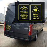 Cyclist Beware Blind Spot Vehicle Decal
