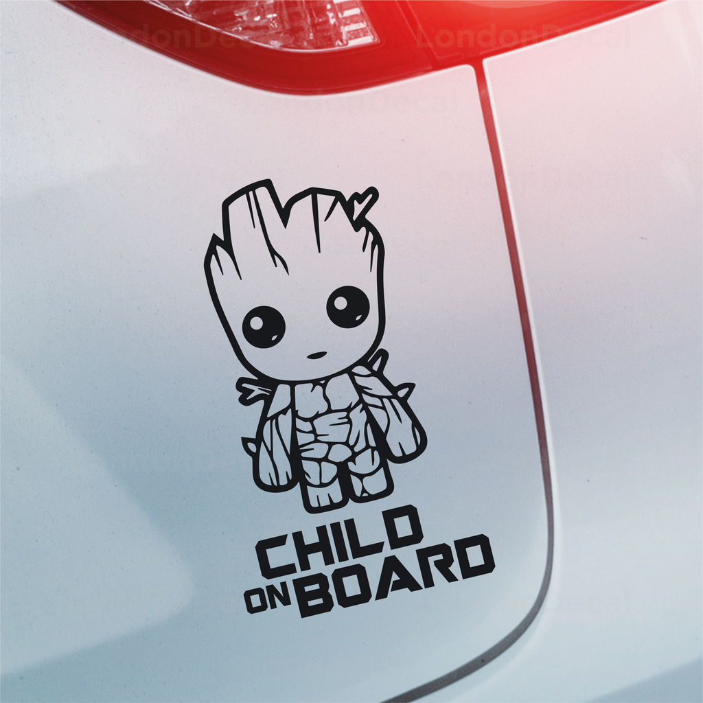 Child On Board Car Decal - Baby Groot