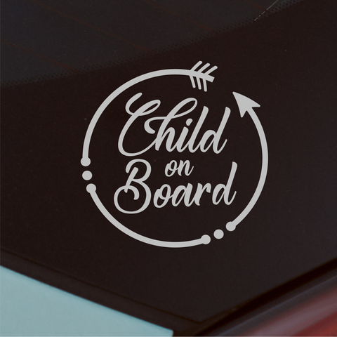 Child On Board Car Decal - Circle