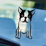 Boston Terrier Dog Car Decal
