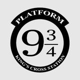 Harry Potter Platform 9 & 3/4 Decal