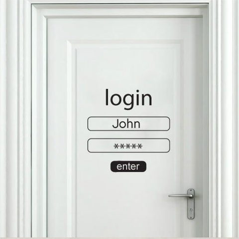 Login Door & Wall Decal