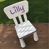 KIDS NAME FOR CHAIR - Removable Vinyl Wall Decal Stickers for IKEA childs chair