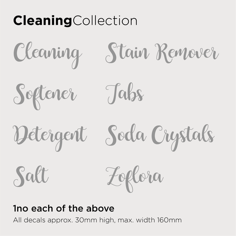 Cleaning Collection Decals