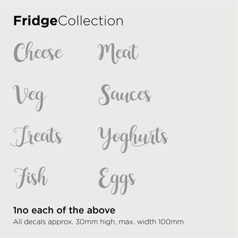 Fridge Collection Decals