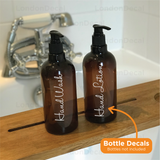 HAND WASH and HAND LOTION - Mrs Hinch inspired bottle decal stickers (Type 1)