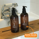 HAND WASH and HAND LOTION - Mrs Hinch inspired bottle decal stickers (Type 2)
