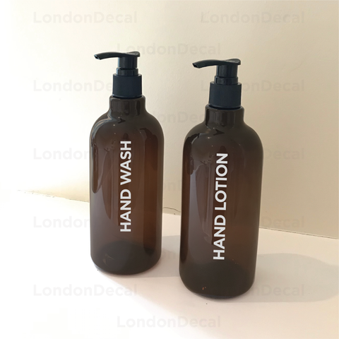 HAND WASH and HAND LOTION - Mrs Hinch inspired bottle decal stickers (Type 4)