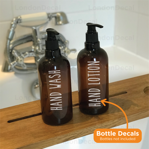 HAND WASH and HAND LOTION - Mrs Hinch inspired bottle decal stickers (Type 5)