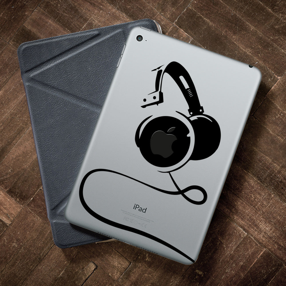 Big Headphones iPad Decal