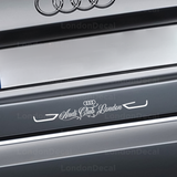 Audi Club London Car Decal