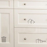 Kitchen Utensil Cupboard Decals