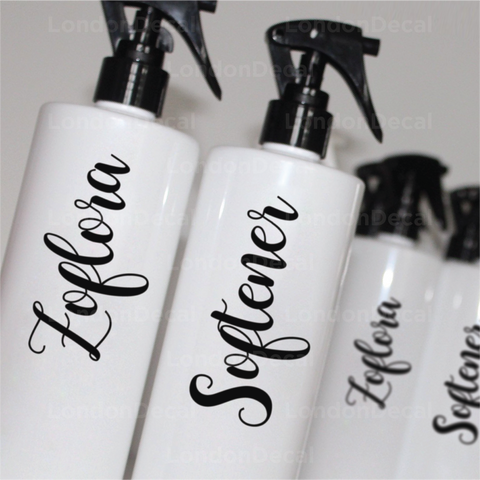 ZOFLORA AND SOFTENER - Mrs Hinch inspired spray bottle decals (Type 3)
