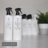 ZOFLORA AND SOFTENER - Mrs Hinch inspired spray bottle decals (Type 2)