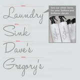 LAUNDRY, SINK, DAVE'S & GREGORY'S - Mrs Hinch Inspired Decals (Type 1)