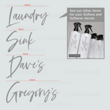 LAUNDRY, SINK, DAVE'S & GREGORY'S - Mrs Hinch Inspired Decals (Type 2)