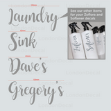 LAUNDRY, SINK, DAVE'S & GREGORY'S - Mrs Hinch Inspired Decals (Type 3)