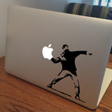 Banksy Riot Macbook Decal