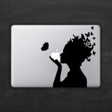 Butterfly Head Macbook Decal