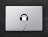 Headphones Macbook Decal