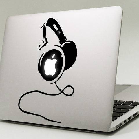 Big Headphones Macbook Decal