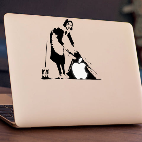 Banksy - Sweeping It Under The Carpet Macbook Decal