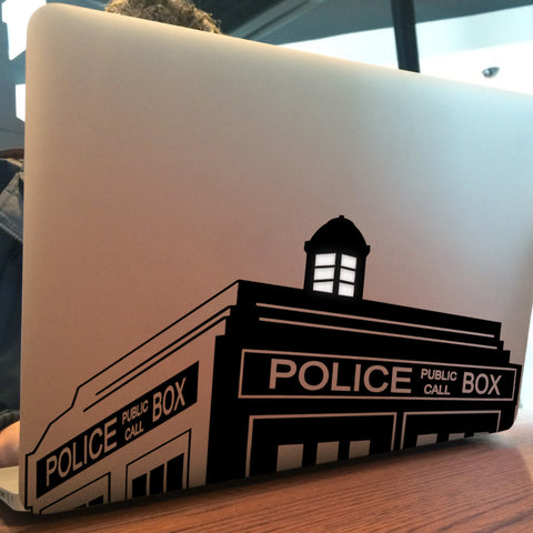 Dr Who / Phone Box Macbook Decal