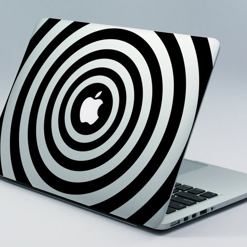 Tunnel illusion Macbook Decal