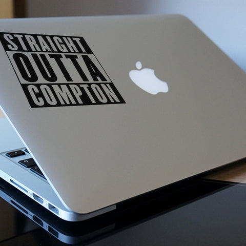 Straight Outta Compton Macbook Decal