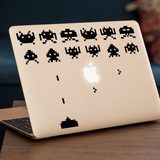 Space Invaders Macbook Decal