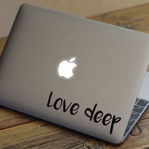 Love Deep Macbook Decal