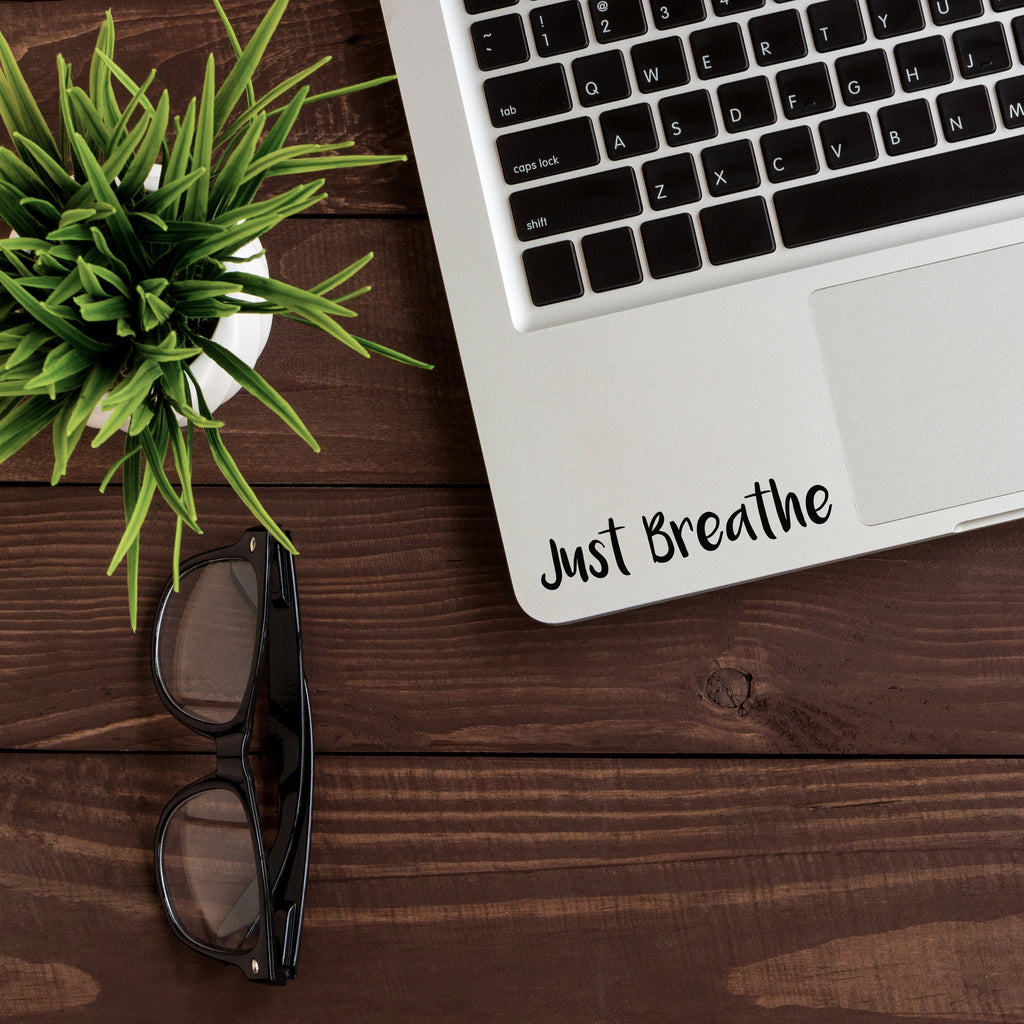 Just Breathe Macbook Decal