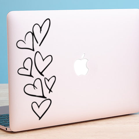 Love Hearts Macbook Decal