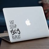 Eat Sleep Blog Repeat Macbook Decal