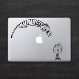 Calvin and Hobbes Macbook Decal