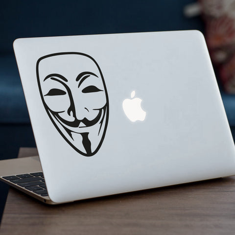 Anonymous Mask Macbook Decal
