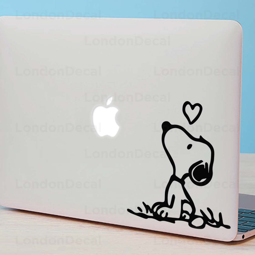 Snoopy Heart Macbook Decal
