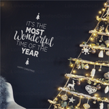 Most Wonderful Time of the Year - Christmas Wall Decal