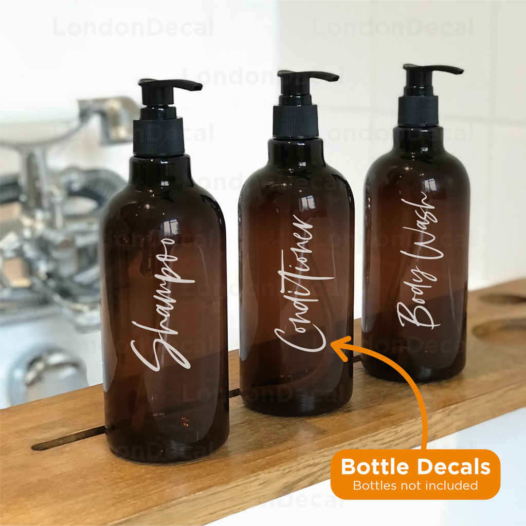 Custom - 'Any Word' Bottle Decal (Type 2)