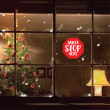 Santa Stop Here Christmas Decal (Type 1)