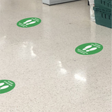 Please Stand Here - Social Distancing Signage (GREEN)